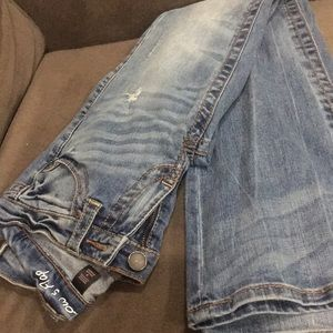 Never been worn distressed jeans
